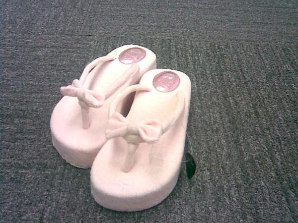 粉紅甜心毛巾布拖鞋