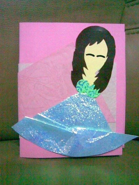 公主卡片--親手做的。