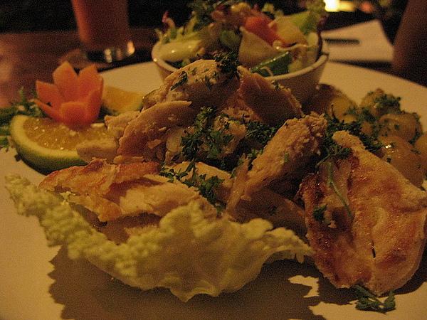 滿滿的雞肉和沙拉,對於愛吃肉的完全可以滿足其慾望