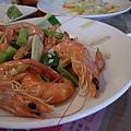 晚上一堆蝦可以吃, 還點蝦子幹嘛?