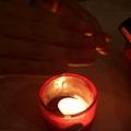桌上小蠟燭