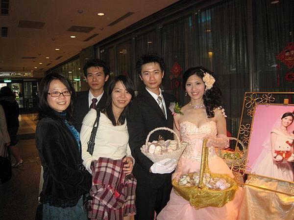 青梅竹馬三人組+新郎新娘