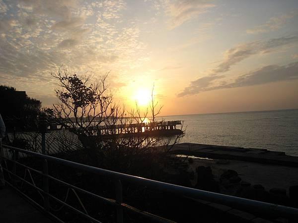 轉去喝咖啡的地方的夕陽