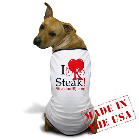 i_love_steak_ii_dog_tshirt