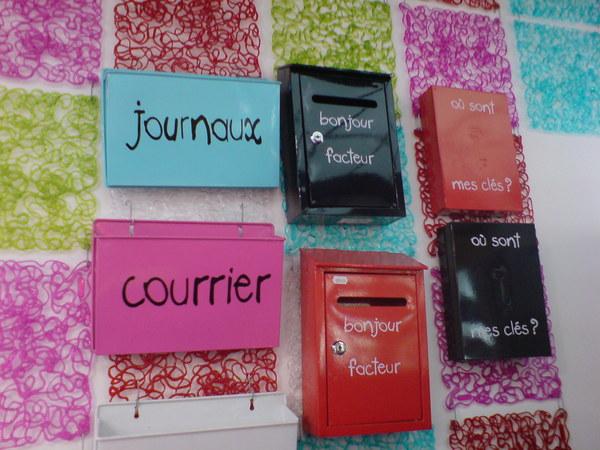 可愛有趣的信箱,鑰匙箱~