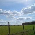 藍天白雲綠地,心情不好才怪