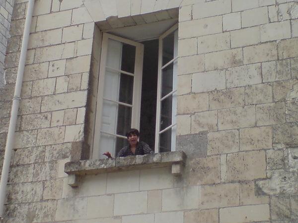 早上離開的時候Joachim衝到窗戶跟我們說再見