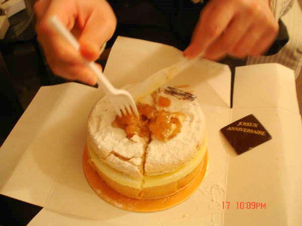 分蛋糕...