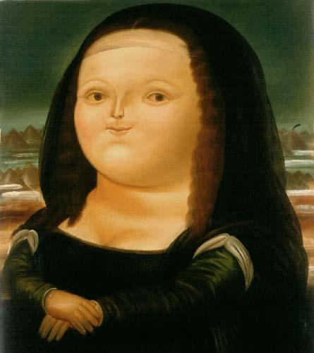 Fernando Botero - Mona Lisa Smile