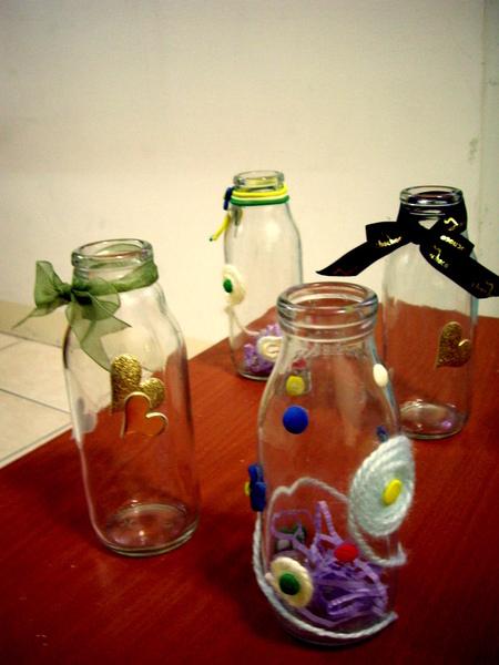 我以為要做來裝棒棒糖的玻璃瓶