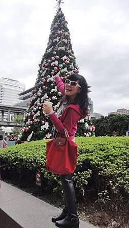 我在拍聖誕樹時..