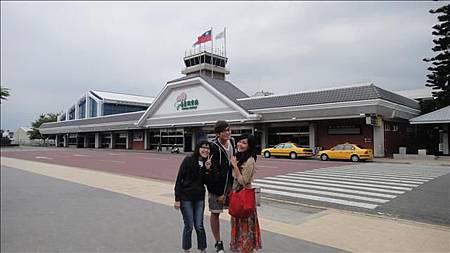 9/21搭了一夜火車終於抵達台東機場~