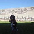 往匈牙利皇宮路上的壁畫