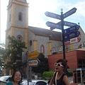 波卡教堂跟可愛路標