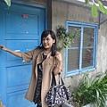 樹葉的感覺很好~ 但老公說為何不把我外公家門塗藍拍一拍就好