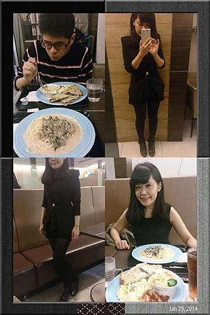 穿很瘦跟老公一起吃小年夜飯~開心放假啦!!