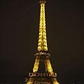 達成夢想晚上鐵塔一百張