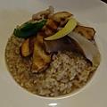 牛菌菇燉飯