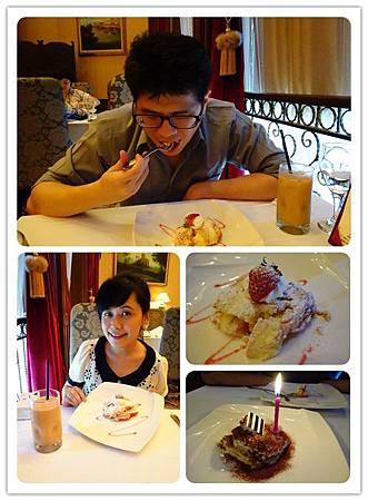 草莓布丁蛋糕跟生日送的提拉米蘇
