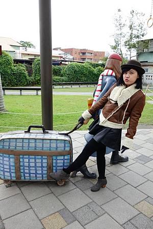 每個幾米行李箱都照了一百張