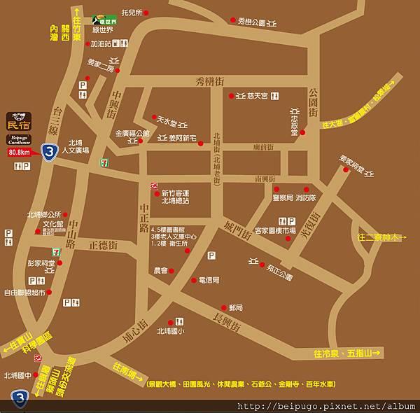 北埔景點map