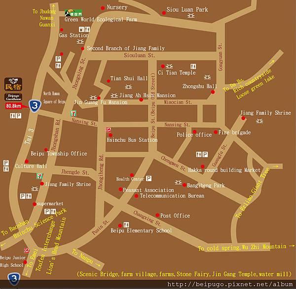 beipu map
