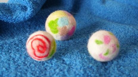 羊毛氈球1+貓毛氈球2