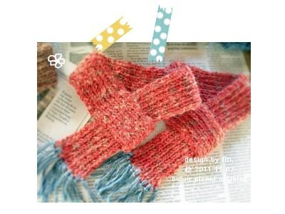 手工毛線貓用圍巾(紅色款)02