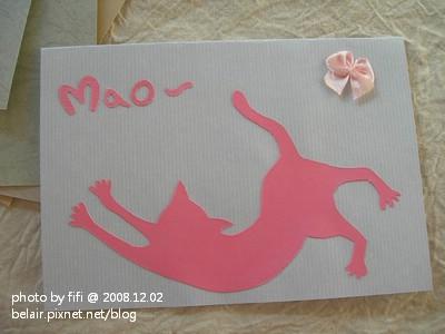 貓咪手工卡片01