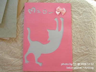 貓咪手工卡片02