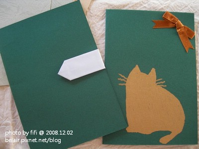 貓咪手工卡片04