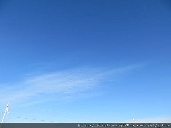 莫名的純藍天空