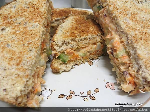 鮭魚沙拉三明治