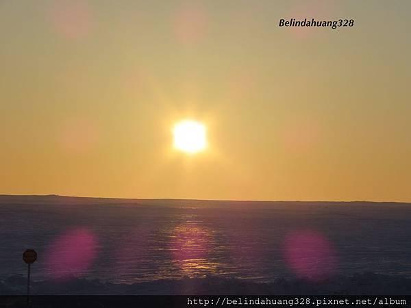 北極圈九點的落日