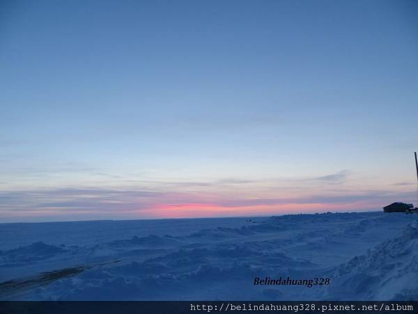 北極圈晚上十點夕陽