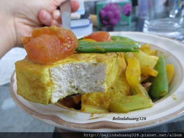 綠咖哩豆腐