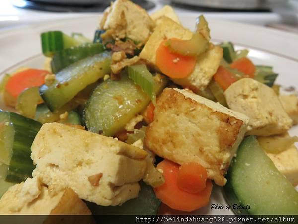 豆腐炒蔬食
