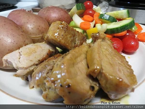 烤蜜汁嫩腰豬肉1