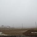北極圈迷霧的早晨
