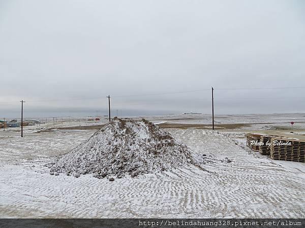 北極圈十月四日飄雪