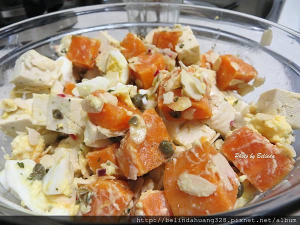 豆腐地瓜雞蛋沙拉