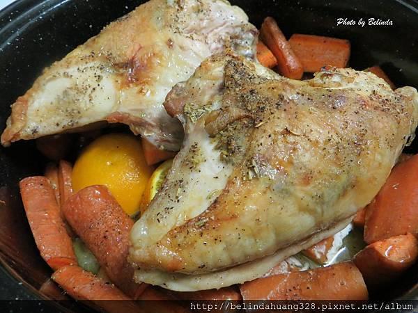 烤香蒜迷迭香帶骨雞胸肉4