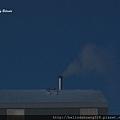 北極圈午後三點的煙囪輕煙飄