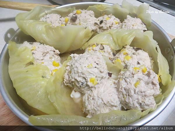清蒸香菇玉米雞肉丸子1