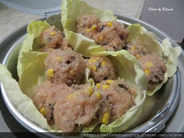 清蒸香菇玉米雞肉丸子3
