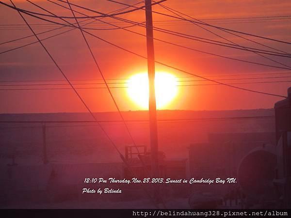 永夜來臨之前第二天日落20131128