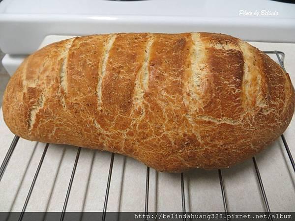 免揉的健康無油配方麵包1