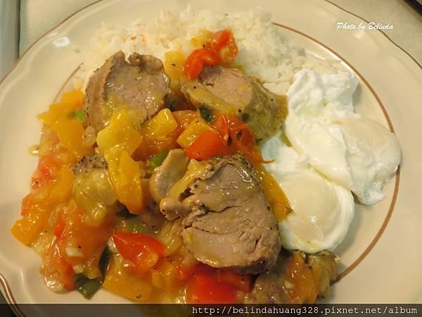 烤嫩腰豬肉佐時蔬Mapple Mustart Pork Tenderloin With Vegetable1