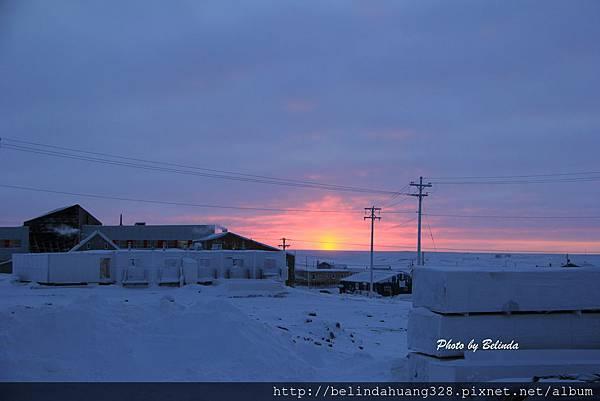 20140121北極圈地帶落日霞光