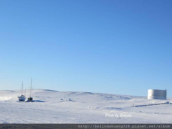 the Arctic Ocean in Cambridge Bay,Nunavut(20140316)